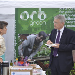 Andrew Jones MP at Orb Garden FEVA Cafe